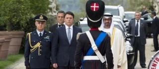 Renzi incontra Sceicco degli Emirati Arabi Uniti