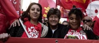 Cgil in piazza, Susanna Camusso e due donne