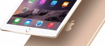 Nuovo Apple iPad Air 2 nella colorazione Gold.