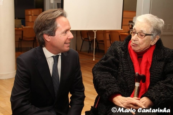 O Consul Pedro Lourtie e Isabel Meyrelles.