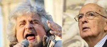 Beppe Grillo e Giorgio Napolitano