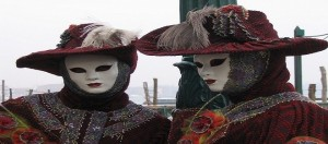 Due maschere del carnevale di Venezia