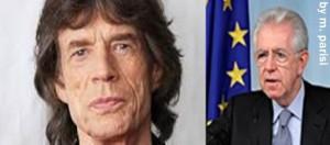 Mick Jagger e Mario Monti