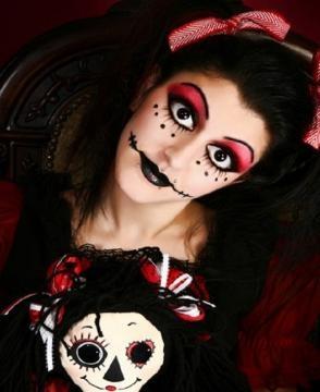 Halloween 2015: trucco da strega, effetto teschio e ...