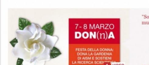 gardenia di aism donala per la feste della donna