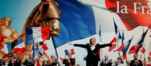 Un meeting de Marine Le Pen