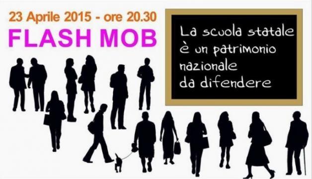 Questa sera il Flash Mob contro la Buona Scuola
