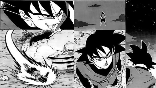 Black Goku durante la masacre kaioshin