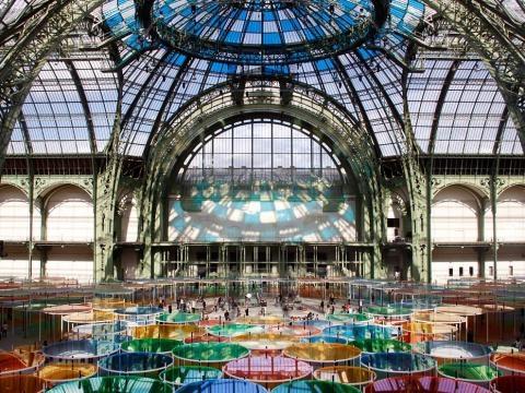 Interior del Grand Palais de Paris.