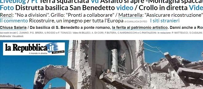 La plupart des grands quotidiens italiens recensent les dégâts en temps réel