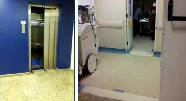 Elevador de Hopsital cai no Rio e deixa dois feridos.