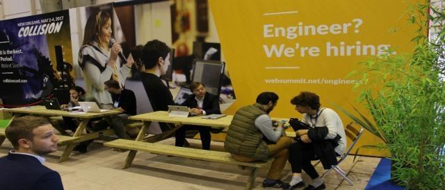 Houve também um espaço de recrutamento para o Web Summit