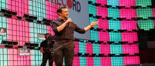 O ator Joseph Gordon-Levitt esteve em destaque na abertura e no fecho do Web Summit
