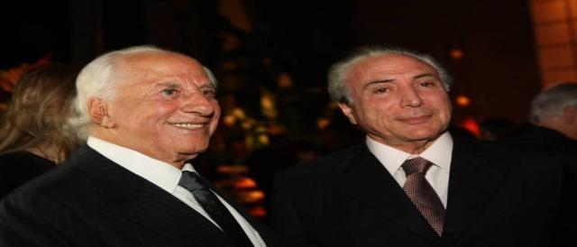 José Yunes ao lado de Michel Temer