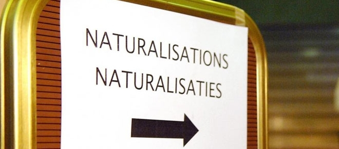 Entrée du bureau de naturalisation à Chambre des réprésentants à Bruxelles