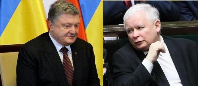 J. Kaczyński i P. Poproszenko (fot. wpolityce.pl)