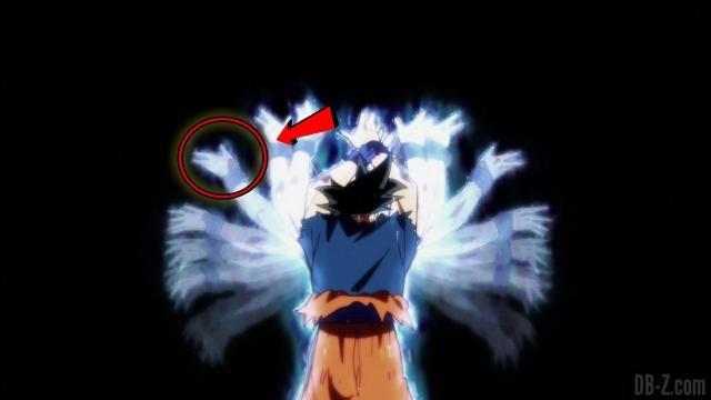 Goku utiliza el Ultra instinto.