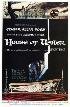 House of Usher película de época con Vincent Price.