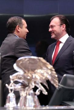 El Senador Ernesto Cordero y el Canciller Luis Videgaray