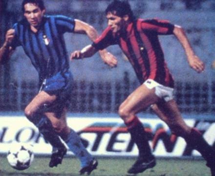 Inter-Milan 3-1, Mundialito 1981: contrasto tra Beppe Baresi e Novellino