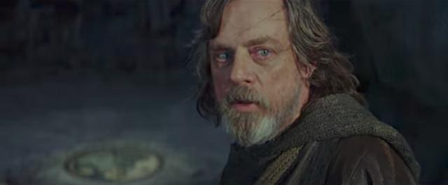 Mark Hamil as Luke Skywalker-YouTube/Star Wars