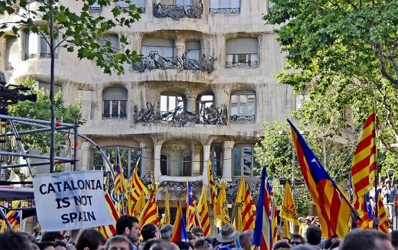 The legitimacy of the referendum has been called into question. Photo By SBA73 (Flickr: Catalonia is not Spain) [CC BY-SA 2.0 Wikimedia Commons