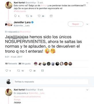 Jennifer hablando con Xavi en twitter (1/2)
