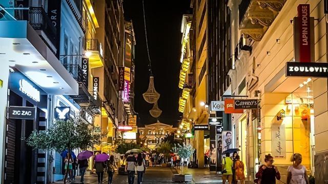 Plaka, Athens. Beautiful night in the beautiful city