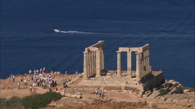 Temple of Poseidon / Cape Sounion / Greece HD Stock Video Footage ... - framepool.com