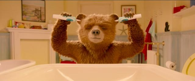 A brief callback to Paddington's infamous teaser trailer appears in this-Youtube/StudiocanalUK