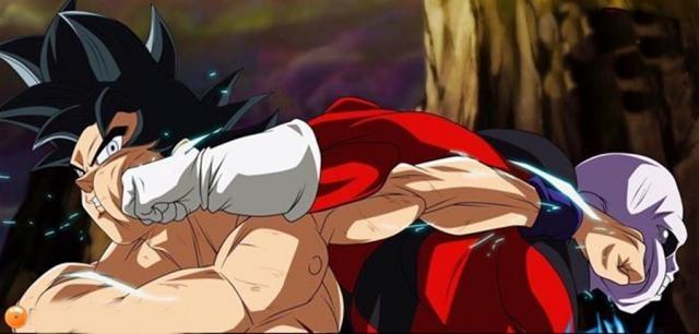 Imagen de Goku y Jiren de Dragon Ball Super