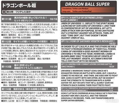 Recortes de prensa japonesa sobre los próximos capítulos de Dragon Ball Super