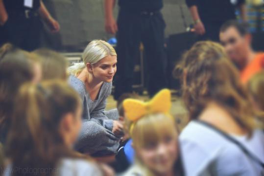 Margaret podczas spotkania z fanami w Hali Gryfia, Słupsk 6.10.2017 r. Zdjęcia dla Blasting News wykonała: Natalia Hołowaty