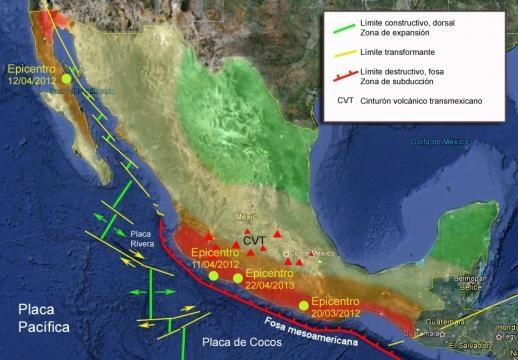 Zonas sísmicas de México: claves para los terremotos de 2012 y ... - wordpress.com