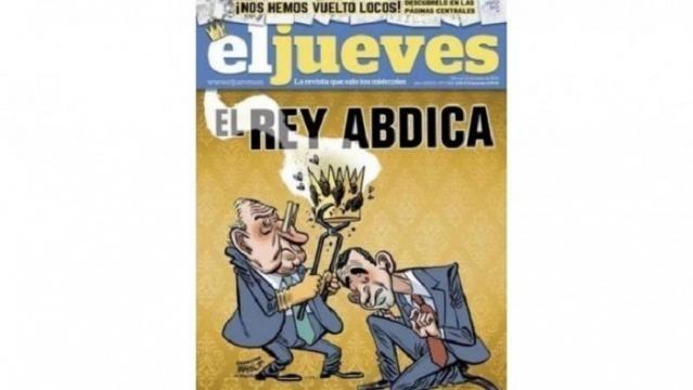 La famosa portada censurada de El Jueves, que motivó la deserción en masa de la mitad de sus colaboradores.
