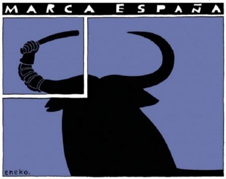 Una de las viñetas de Eneko, simbolizando la represión policial en Cataluña el 1-O, publicada en la revista Interviu.