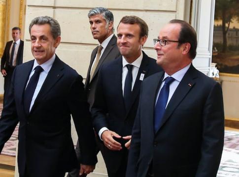 Emmanuel Macron, François Hollande, Nicolas Sarkozy, réunis à l ... - public.fr