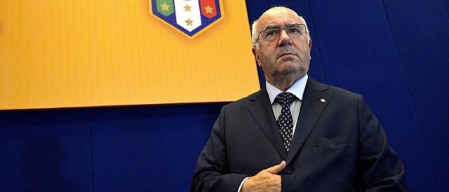 Il presidente della FIGC, Carlo Tavecchio: la sua è una gestione fallimentare sotto tutti i punti di vista