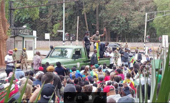 Celebrations in Harare as people revel in HOPE! - Photo C Guthrie
