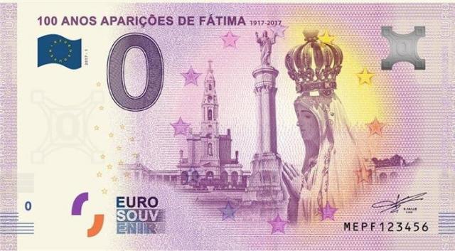 As notas de 'zero euros' já chegaram a Portugal