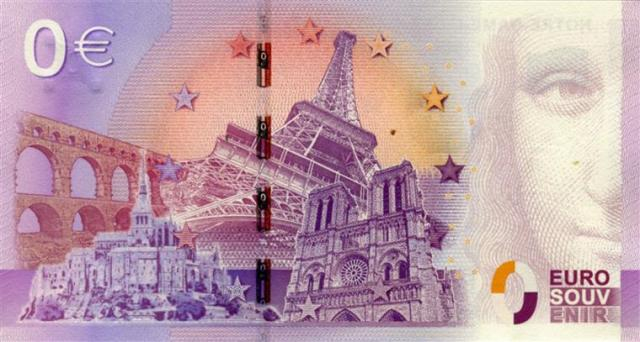 Exemplo de outra nota de zero euros