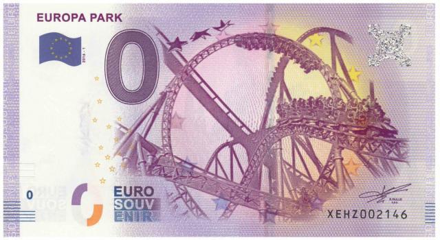 Outro exemplo de outra nota de zero euros