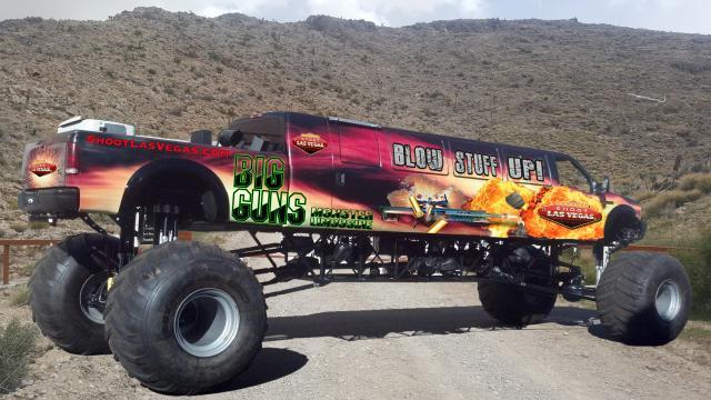 The world's longest monster truck,