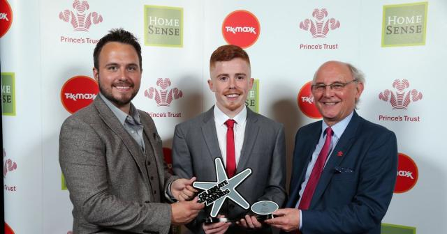 Ryan Morris, 23 at the 2016 Prince's Trust Award Ceremony
