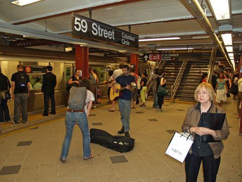 People in New York City Subway (Image credit – David Shankbone, Wikimedia Commons)
