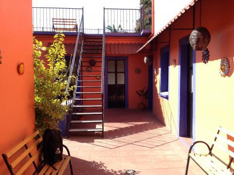 El Hostal del Sol donde antes fuera casa de descanso de Diego Rivera.