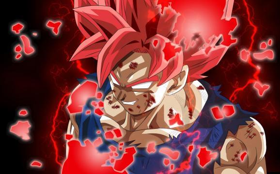 Goku con los nuevos poderes obtenidos