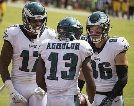 Alshon Jeffery has had a sizable impact on the receiver production for the Eagles this season. (Image via Keith Allison - Wikimedia Commons)