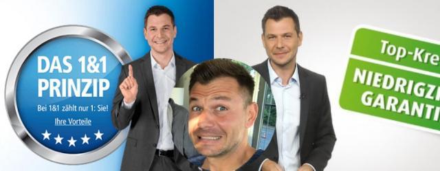 Kilian Reichert ist das bekannteste Werbegesicht für 1&1 - und nun noch bei der Norisbank / Fotos: 1&1, Norisbank, facebook_KilianReichert