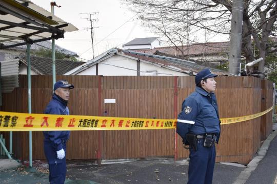 La polizia sul luogo del crimine.